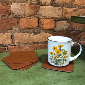 2/$27- Set of 4 faux leather coasters